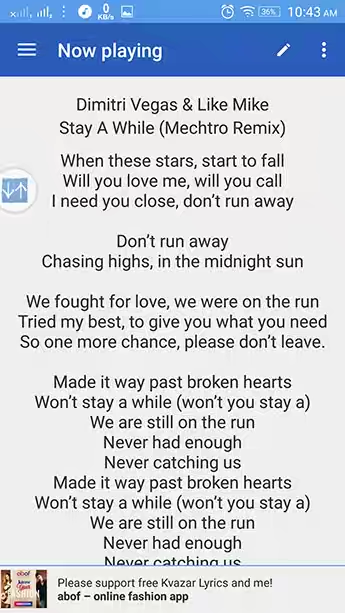How To Show And Display Music Lyrics On Android Stock Music
