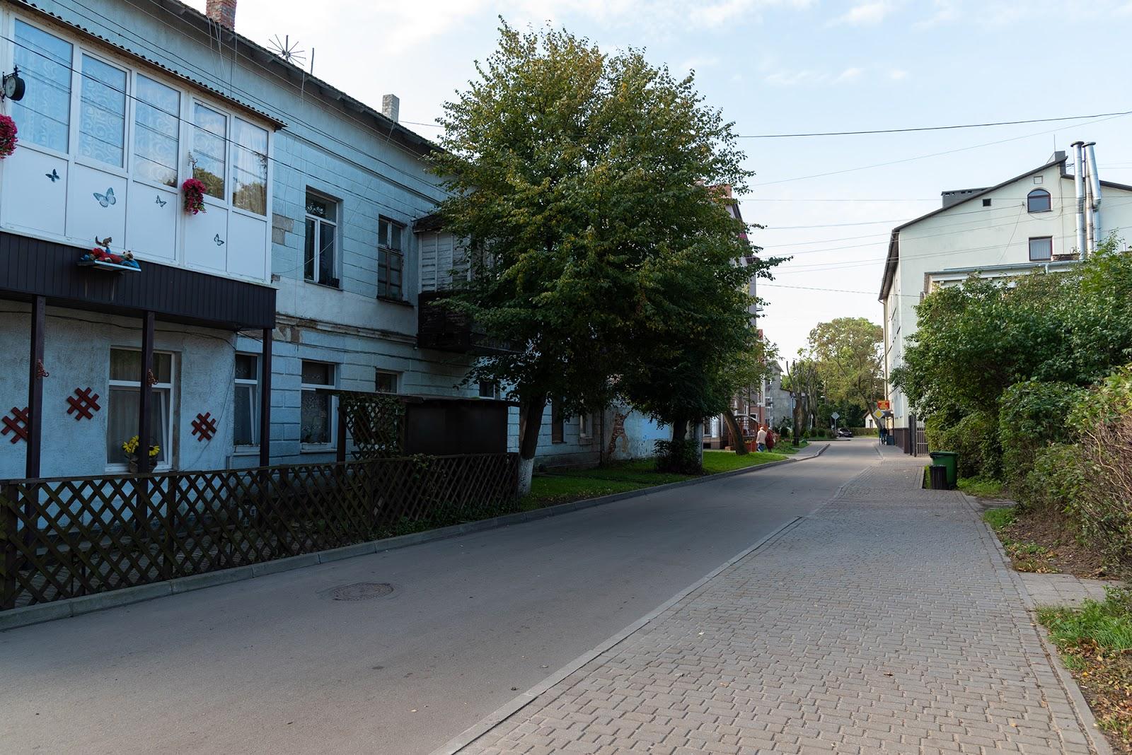 Зеленоградск. Улица