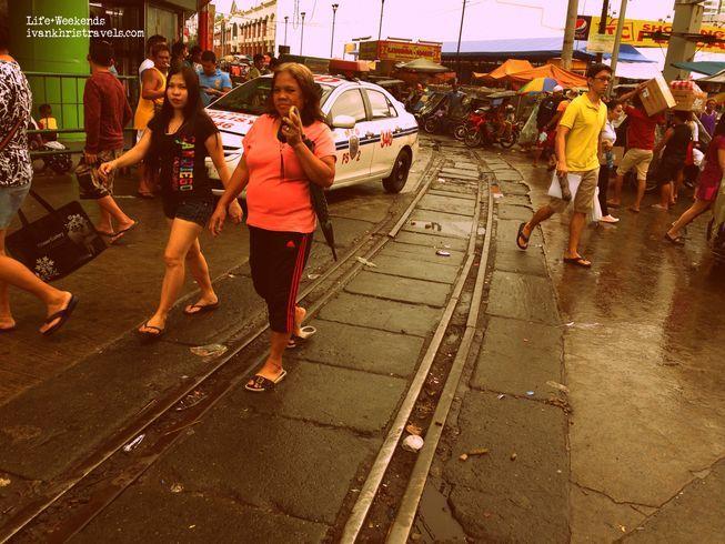Train tracks outside Tutuban Center Mall