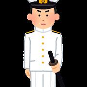 旧日本兵のイラスト(海軍)