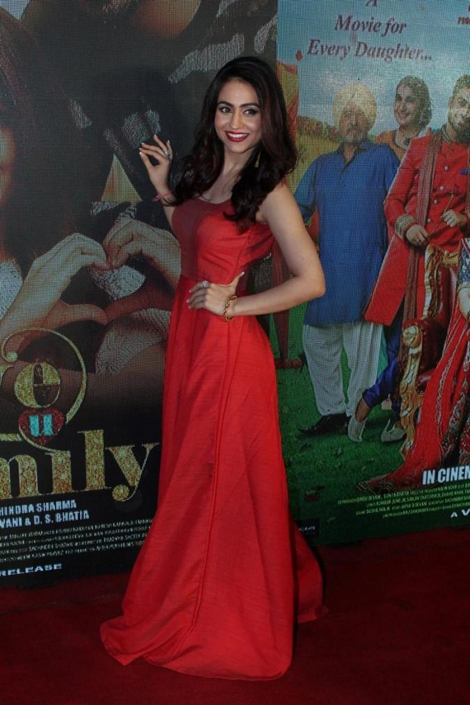 Aksha Pardasany At Music Trailer launch of Hindi Film In Red Dress