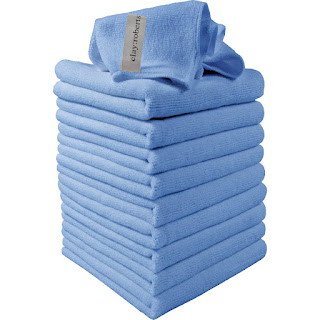 Microfibre Cloths 10 Pack Blue, Super Soft Clay