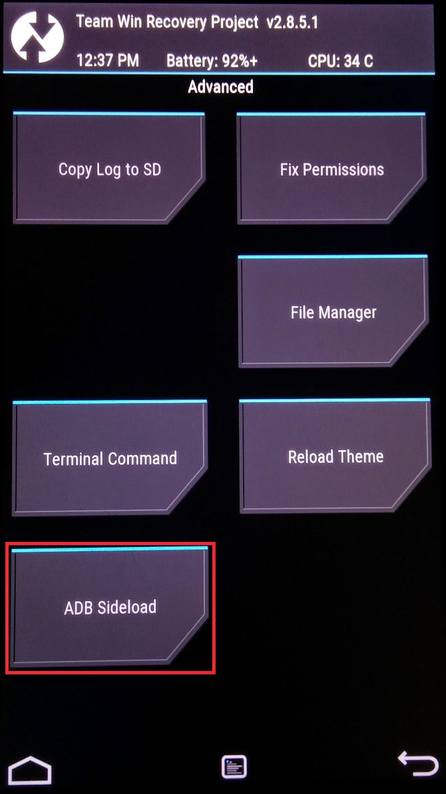 端末を「adb sideload」を使って手動で即座にアップデートする