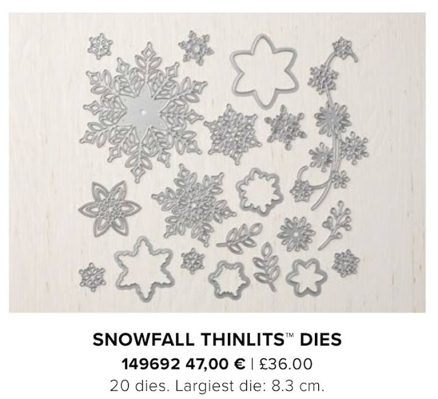 Snowfall thinlits dies Stampin Up