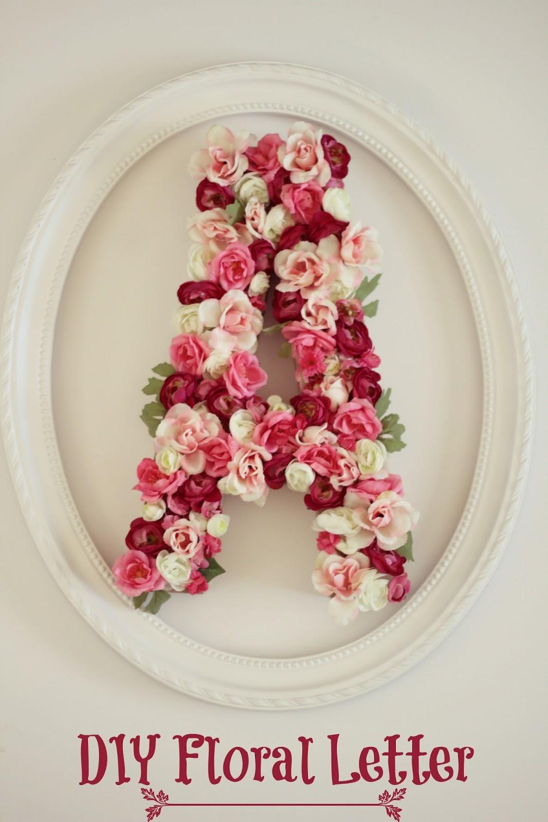 DIY Floral Initial - Nightchayde
