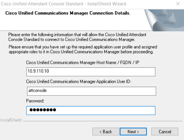 Technical troubleshoot: Cisco Unified attendant console