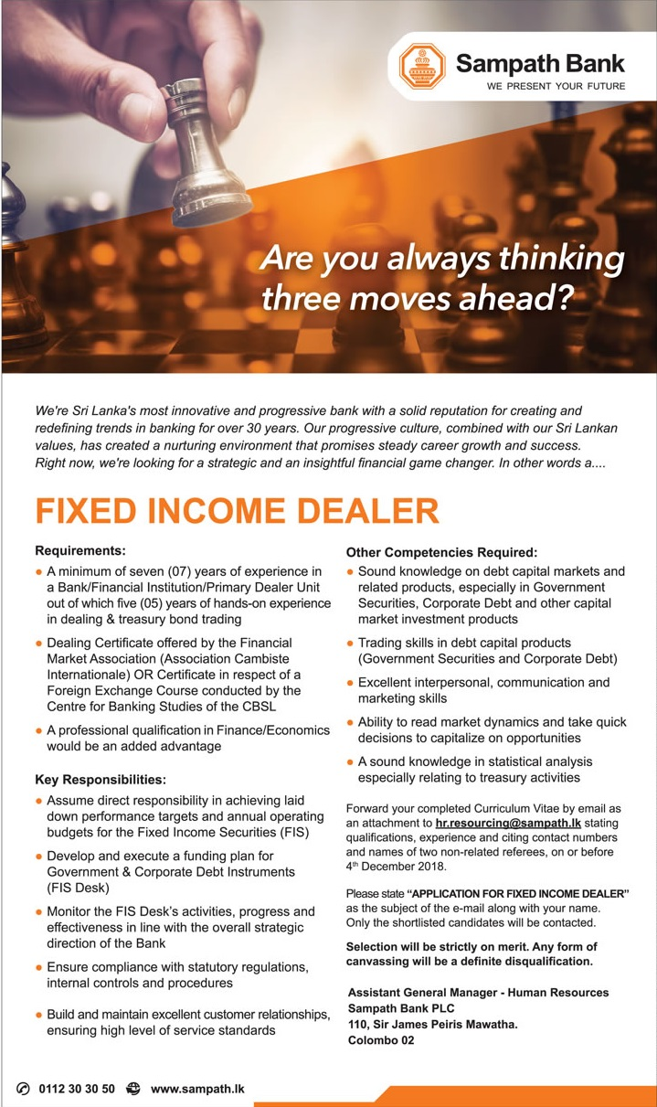 Fixed Income Dealer