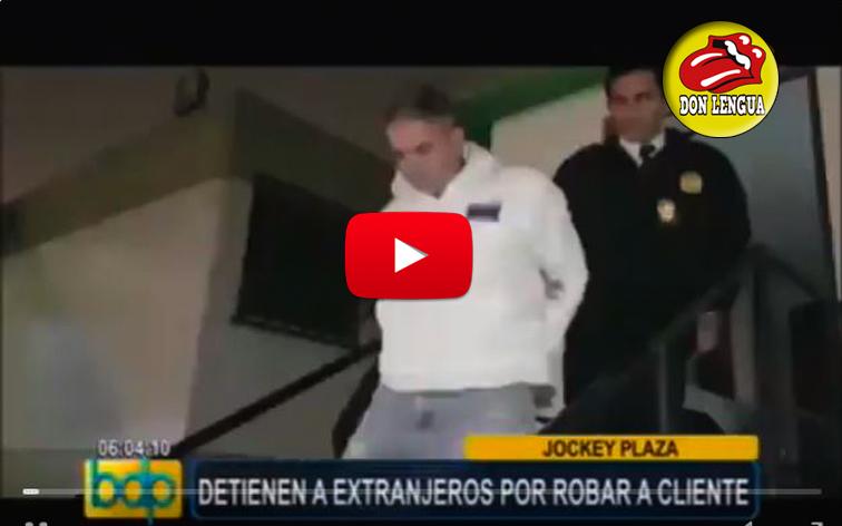 Dos venezolanos detenidos al estar robando en Perú