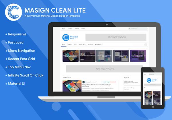 Masign Clean Lite Premium v30 - Responsive Blogger Template