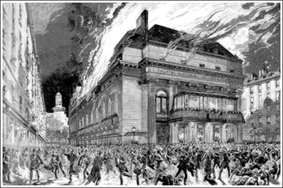La Casa dels Enganys dels Sentits - Incendi de la Salla Favart de París (Illustrated Sporting and Dramatic News, 1887)