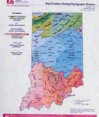 maps of Indiana topography