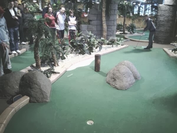 Adventure Island Mini Golf course at Star City in Birmingham
