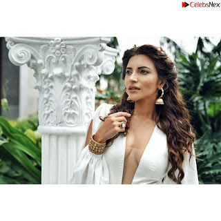 Shama Sikandar Beautiful Stunning Deep neck Gowns Bikini Inners 002.jpg