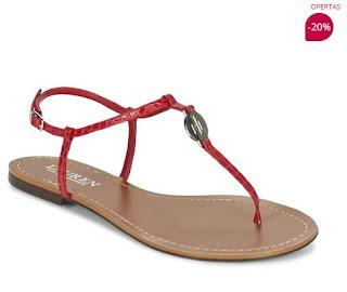 sandalias rojas de Ralph Lauren en oferta