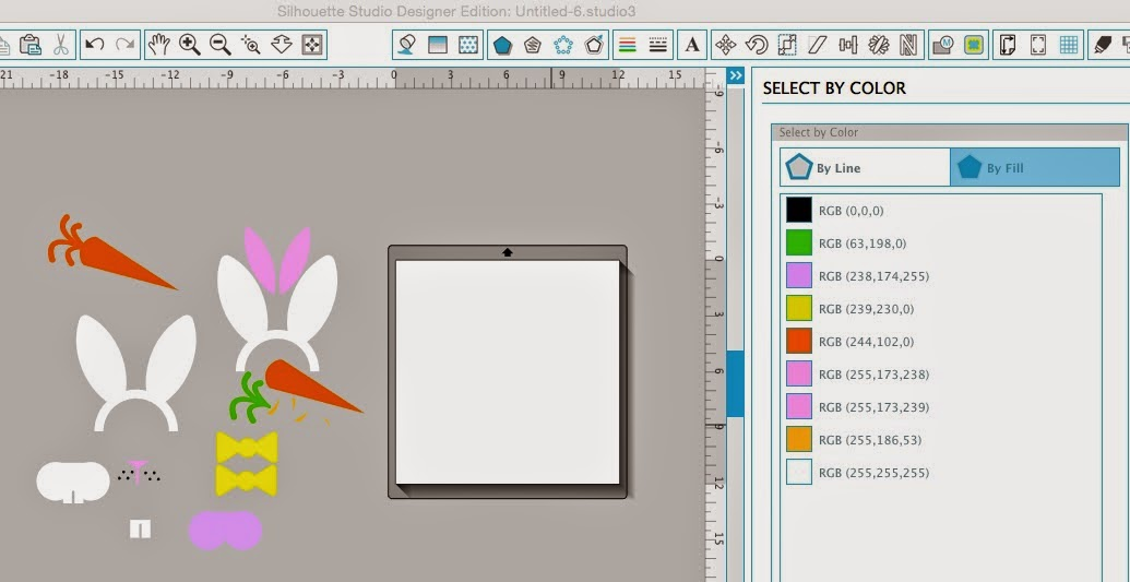 Silhouette Studio, select by color tool, Silhouette tutorial