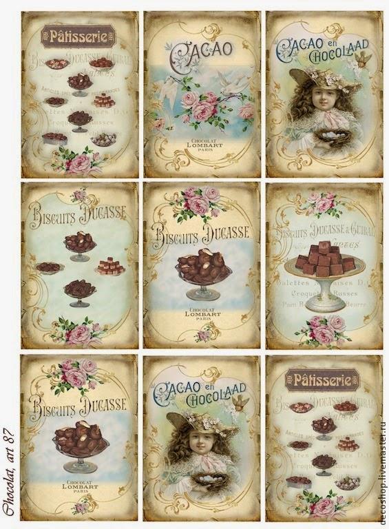 Etiquetas De Chocolates Estilo Vintage Para Imprimir Gratis