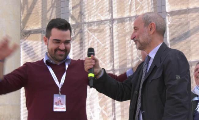 Filippo Savrese con Massimo Gandolfini