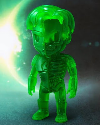 Singapore Toy Game and Comic Convention 2016 Exclusive DC Comics XXRAY Dissection Clear Edition Green Lantern Vinyl Figure by Jason Freeny & Mighty Jaxx