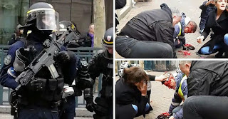 Great shame: French policeman shoots yellow vest in the back of the head!