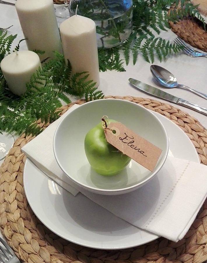 mesa natural para Navidad