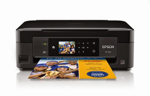 capable reckoner printer amongst pricey inks Epson Expression Home XP-424 Driver Download & Review
