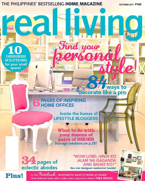 real living october, home office, green office, pink office