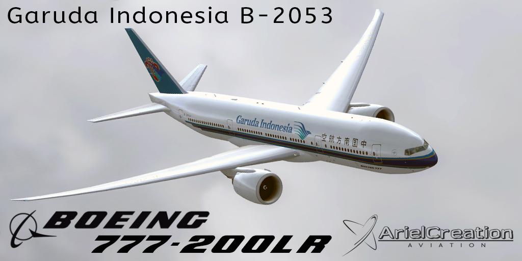 PMDG 777-21B Garuda Indonesia B-2053 Leased From China