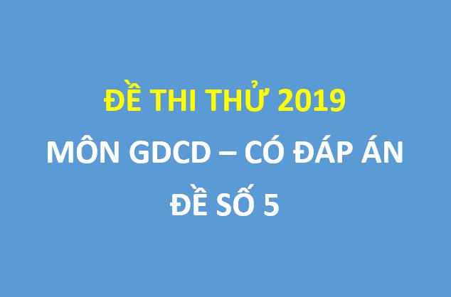 Đề thi thử  GDCD lần 1 trường chuyên Lê Quý Đôn