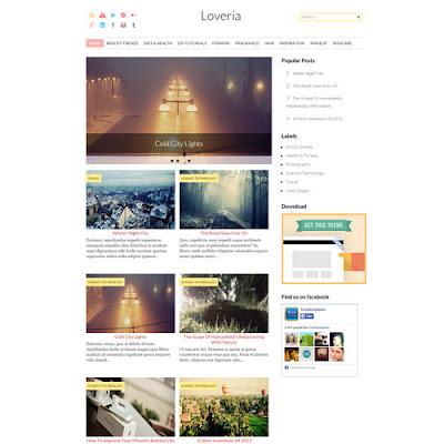Loveria Grid - Galeri Blogger Template