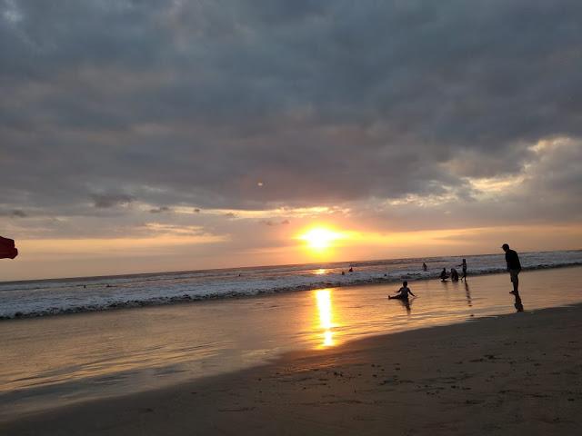 Beautiful Sunset in Kuta Beach