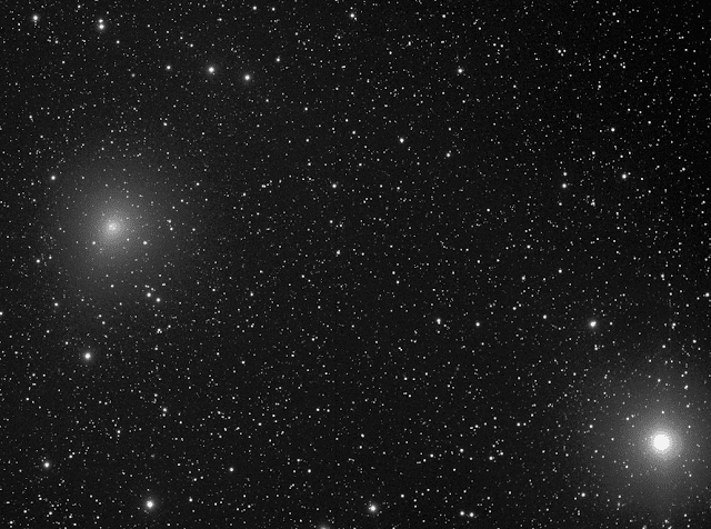 Comet 41P/Tuttle-Giacobini-Kresák pictured with the star Beta Draconis (lower right).  Image by Insight Observatory