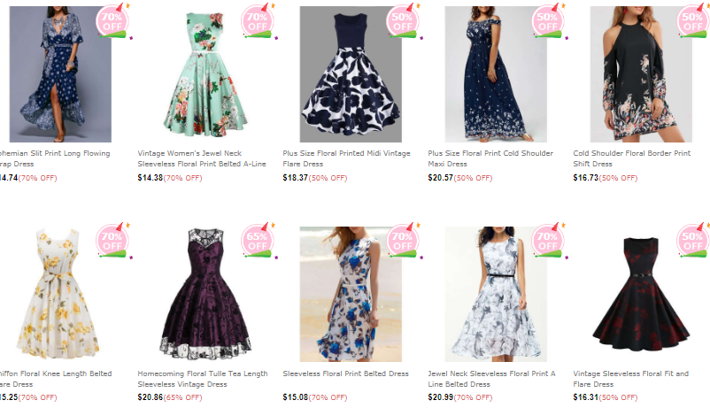Floral dresses from Dresslily.com