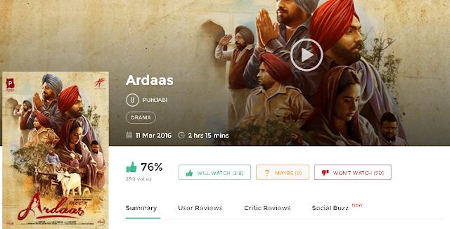 Ardaas 2016 Full Punjabi Movie 700mb HD 300mb