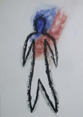 pintura Cotemporanea Frio y caliente por el escritor artista y modelo  Sir Helder Amos