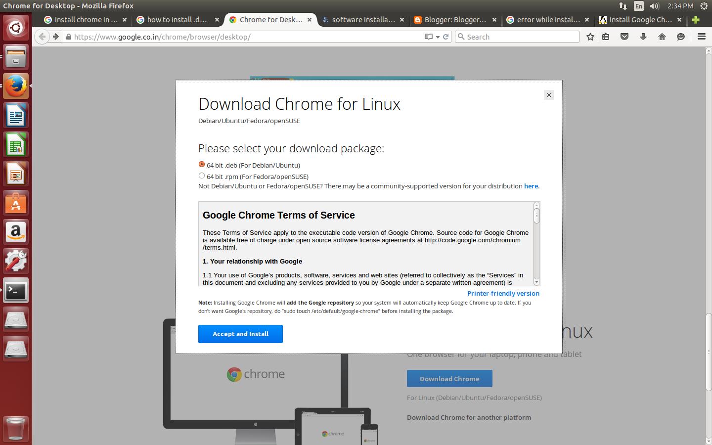 install chrome ubuntu