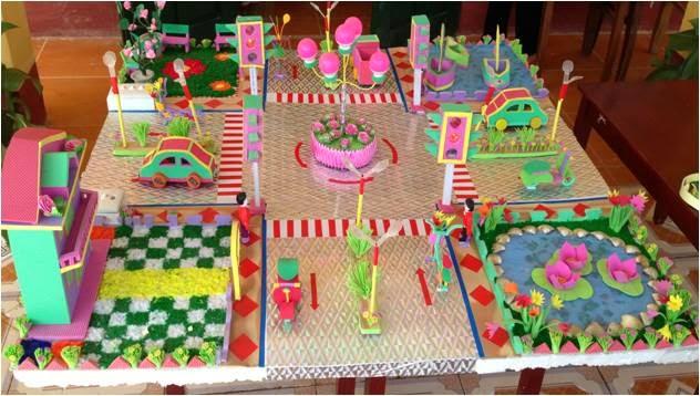 đồ dùng đồ chơi sáng tạo mô hình ngã tư đường phố