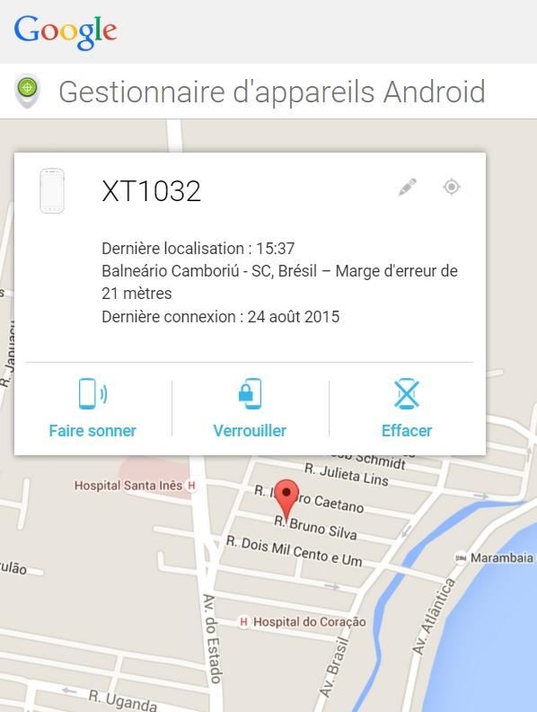 gestionnaire d'appareils Android
