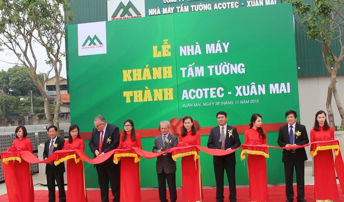 Lễ khánh thành nhà máy thuộc Xuân Mai Corp