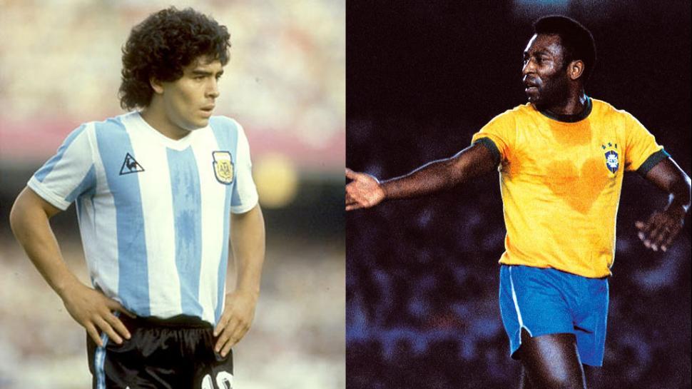 Pelé y Maradona se enfrentan en juego amistoso en París
