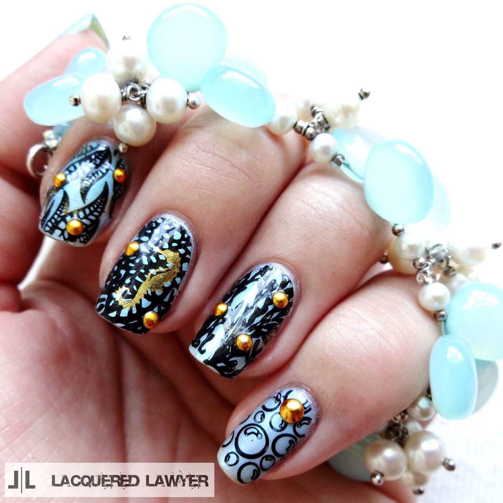 Science Nail Designs: Nail Art Blog: Enchantment Under The Sea