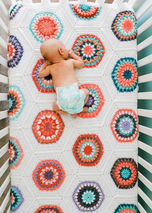 Grandmother's Flower Garden Blanket - Free Pattern