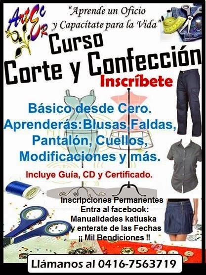 015644664fbe Manualidades Katiuska  Curso Corte y Costura