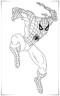 ausmalbilder zum ausdrucken: spiderman ausmalbilder