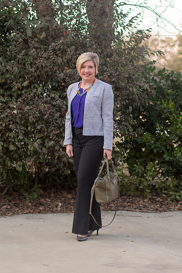 office attire, color of the year 2018, office pants outfit