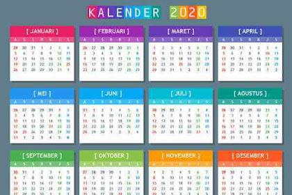 Download Kalender 2020 Indonesia PDF PNG Lengkap