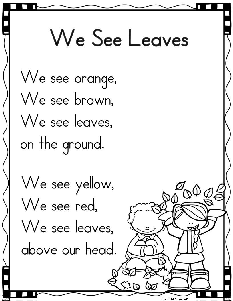 poetry shared reading in kindergarten mrs mcginnis 39 little zizzers. Black Bedroom Furniture Sets. Home Design Ideas