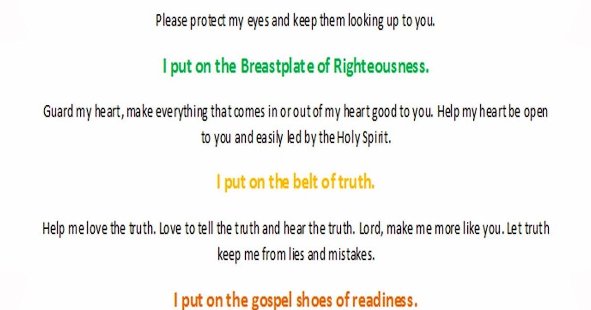 learntodokidmin: Armor of God - Kid's Prayer