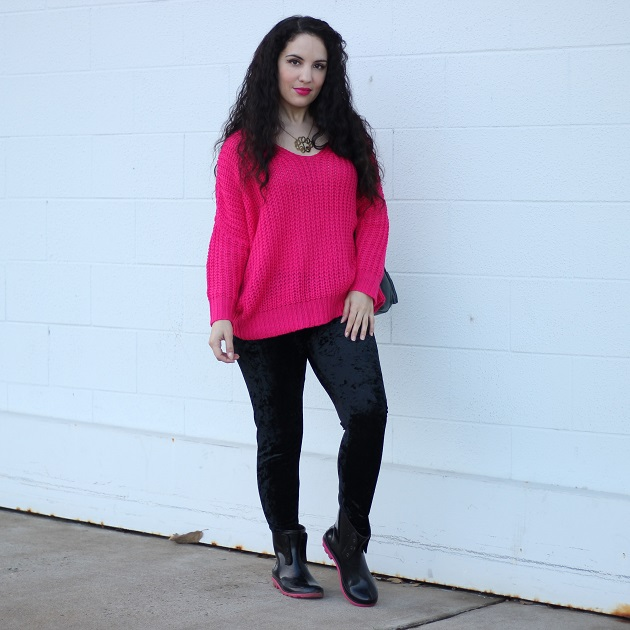 Shein Bright Pink Sweater