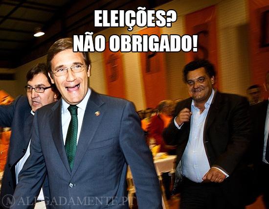 Alegadamente: Imagem de Pedro Passos Coelho – Eleições? Não Obrigado!