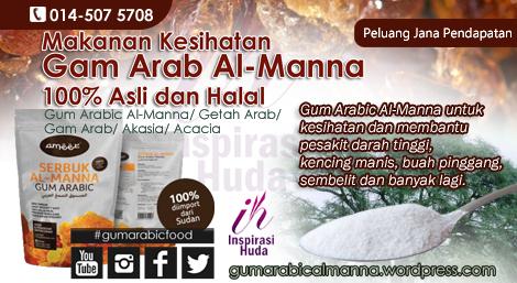 gum arabic food, gum arabic almanna, almanna ameer, stokis almanna ameer kota bharu,